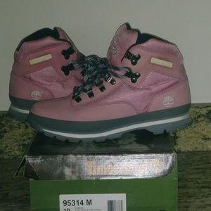 Pink Timberlands (women)